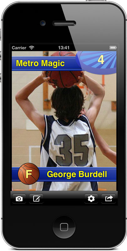 Basketball Card Pro Screenshot