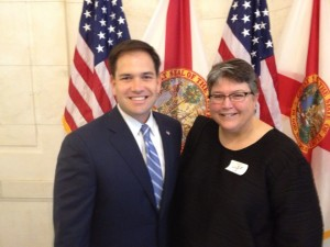 Senator Marco Rubio and Ann Adair