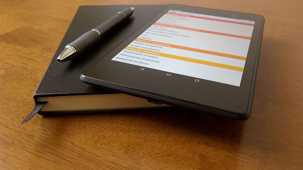 Lists for Writers on Nexus 7