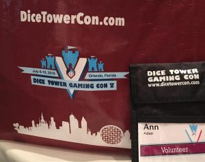 Dice Tower Con game bag and badge lanyard